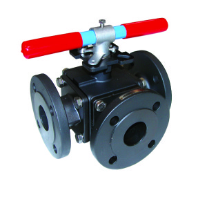 5 783-84 Carbon Steel 3 way ball valve