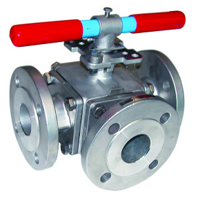6 785-786 stainless steel 3 way ball valve (O)